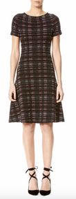 Carolina Herrera Tweed Sweater Dress