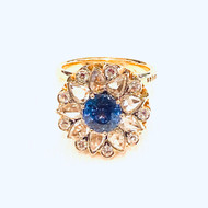Selim Mouzannar Beirut Blue Sapphire and Diamond Ring