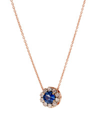 *COMING SOON* Selim Mouzannar Beirut Pendant in Pink Gold Set with Blue Sapphires and Diamonds
