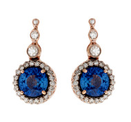 *COMING SOON* Selim Mouzannar Beirut Earrings in Pink Gold Set with Blue Sapphires and Diamonds