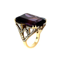 *PRE-ORDER* Sylva & Cie. 18K Yellow Gold Amethyst Ring