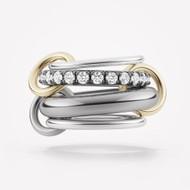 *PRE-ORDER* Spinelli Kilcollin 18K Black Gold and Sterling Silver Luna BG 4 Link Ring