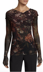Fuzzi Cross Front Floral Top