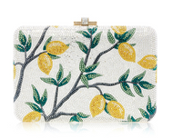 *PRE-ORDER | PRE-FALL '21* Judith Leiber Couture Slim Slide Lemon Tree Novelty Clutch