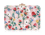 *PRE-ORDER | PRE-FALL '21* Judith Leiber Couture Slim Slide Strawberry Patch Novelty Clutch