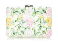 *PRE-ORDER | PRE-FALL '21* Judith Leiber Couture Slim Slide Watercolor Roses Novelty Clutch