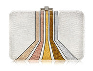 *PRE-ORDER | PRE-FALL '21* Judith Leiber Couture Slim Slide Space Stripes Novelty Clutch