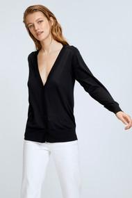 Dorothee Schumacher Surprising Attitude Boatneck Sweater in Pure Black