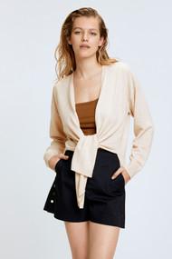 Dorothee Schumacher Sophisticated Softness V-Neck Cashmere Cardigan in White