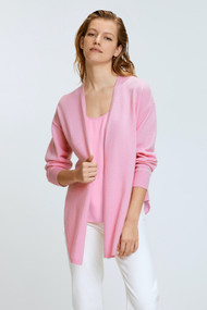 Dorothee Schumacher Sophisticated Softness V-Neck Cashmere Cardigan in Baby Pink
