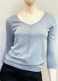Gentry Portofino Long Sleeve Knit Sweater in Aquamarine