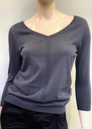 Gentry Portofino Long Sleeve Knit Sweater in Vulcano