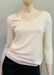 Gentry Portofino Long Sleeve Knit Sweater in Latte