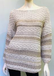 Gentry Portofino Striped Long Sleeve Knit Sweater