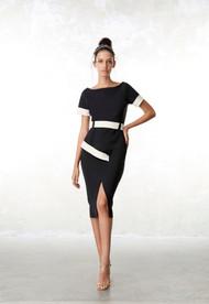 Chiara Boni La Petite Robe Ocrisia Asymmetric Biocolor Dress