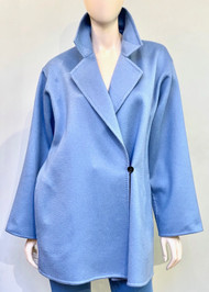 Max Mara Kassel Cashmere Coat in Light Blue