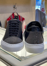 Fabiana Filippi Leather Embellished Sneakers in Black