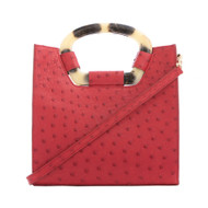 *TRUNK SHOW* Cape Cobra Leathercraft Palma Crossbody in Red Ostrich