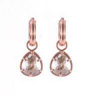 *TRUNK SHOW* Sylva & Cie. 14K Rose Gold Rough Cut Pear Shape Diamond Earrings
