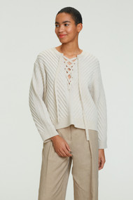 *COMING SOON* Dorothee Schumacher Urban Breath Ribbed Sweater in Natural White