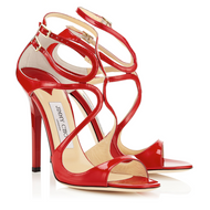 Jimmy Choo Lang Red Patent Leather Sandal