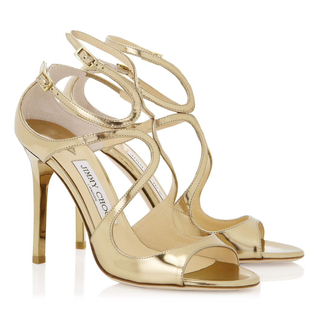b6dc825a1d9c Jimmy Choo Lang Gold Mirror Leather Sandal (Lang - Gold)