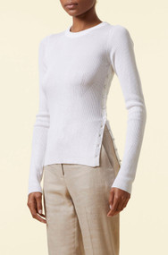Altuzarra Iris Ribbed Sweater in Ivory
