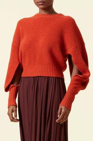 Altuzarra Anthea Knit Sweater in Cayenne