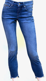 MAC Rich Slim Chic Stretch Denim Jeans in Mid Blue Authentic