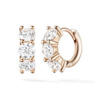 *PRE-ORDER* Melissa Kaye 18K Pink Gold Sadie Huggie Hoop Diamond Earrings