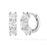 *PRE-ORDER* Melissa Kaye 18K White Gold Sadie Huggie Hoop Diamond Earrings