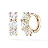 *PRE-ORDER* Melissa Kaye 18K Yellow Gold Sadie Huggie Hoop Diamond Earrings