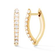 *PRE-ORDER* Melissa Kaye 18K Yellow Gold Small Christina Diamond Earrings