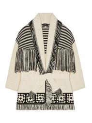 ALANUI El Paso Crochet Cardigan in Black/White