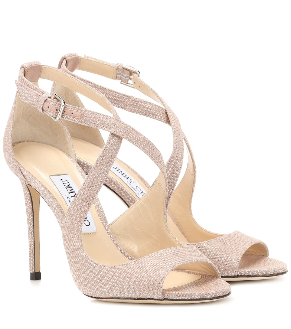 0d2d21f81f0 Jimmy Choo Emily Shimmer Strappy Sandal (Emily- Ballet Pink)