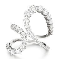 *PRE-ORDER* Melissa Kaye 18K White Gold Aria Jane Diamond Ring