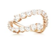 *PRE-ORDER* Melissa Kaye 18K Pink Gold Aria Skye Diamond Ring