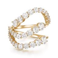*PRE-ORDER* Melissa Kaye 18K Yellow Gold Large Aria Skye Diamond Ring
