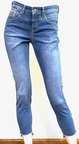 MAC Rich Slim Chic Authentic Denim Jeans in Mid Blue Authentic