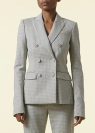 Altuzarra Indiana Double Breasted Jacket in Ivory/Multi
