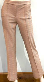 Chiara Boni La Petite Robe Nuccia Crop SJE Print Pants in Chevron Duna
