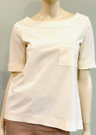 Chiara Boni La Petite Robe Trifonia Top in Cream