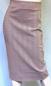 Chiara Boni La Petite Robe Parda SJE Print Skirt in Chevron Duna