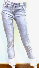 Fabiana Filippi Todi Denim Trousers in Marbled Grey