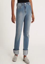 Fabiana Filippi Todi Denim Trousers in Greek Blue