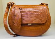 Nancy Gonzalez Crossbody Shoulder Bag in Matte Cognac