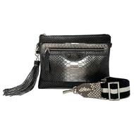 *PRE-ORDER* J.Markell Jo Crossbody Clutch Bag in Grey Metallic Ombre
