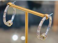Spinelli Kilcollin 18K White Gold Argo Diamond Pave Hoop Earrings