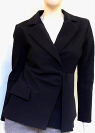 Chiara Boni La Petite Karin Collared Jacket in Black