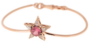 Selim Mouzannar Istanbul Star Bracelet 18K Pink Gold Set with Diamonds and Pink Tourmaline